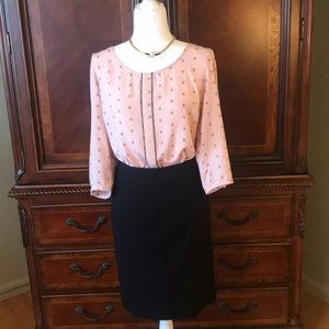 LAUREN CONRAD pink and black blouse